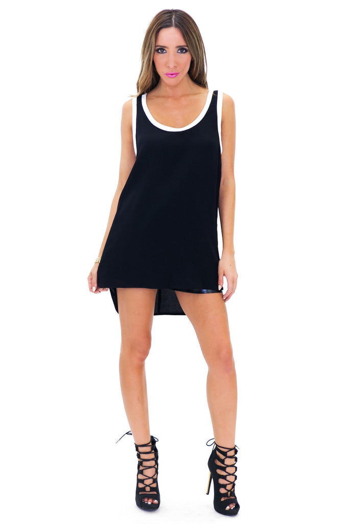 DRAK CONTRAST BINDING TANK TOP - Black