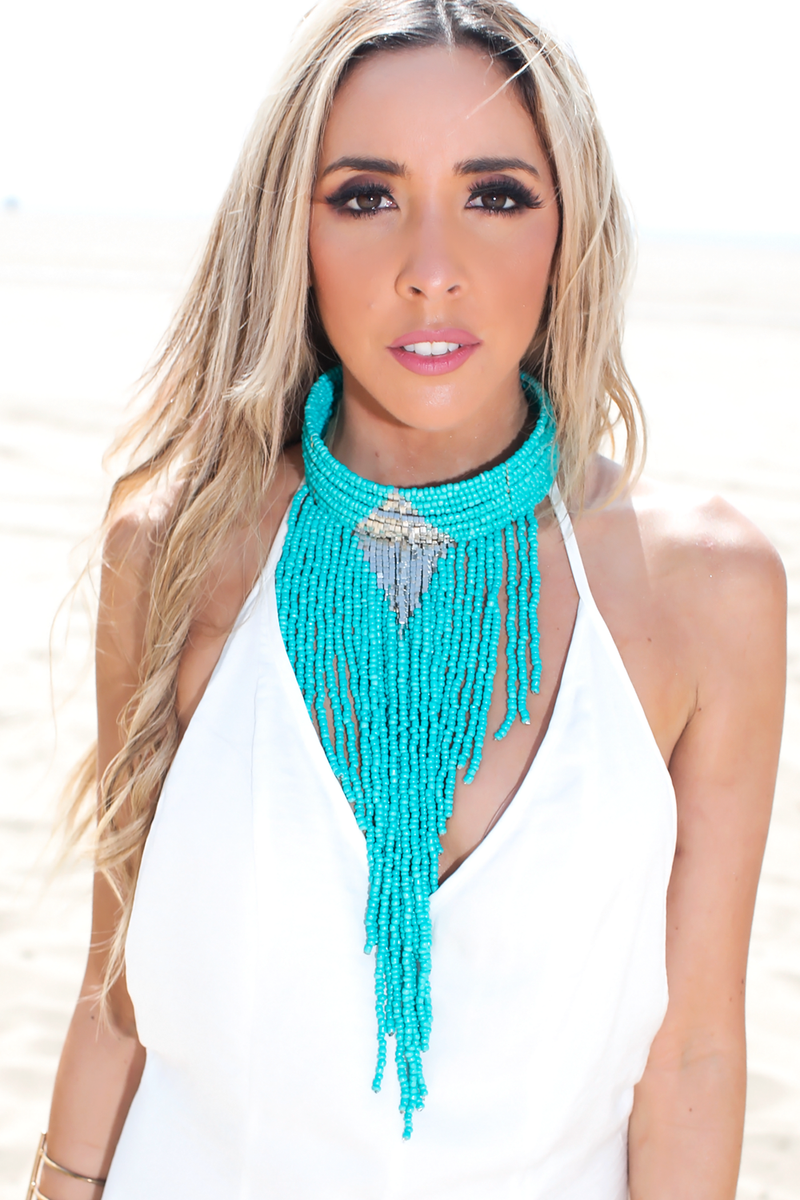Let it Fringe Beaded Necklace - Haute & Rebellious