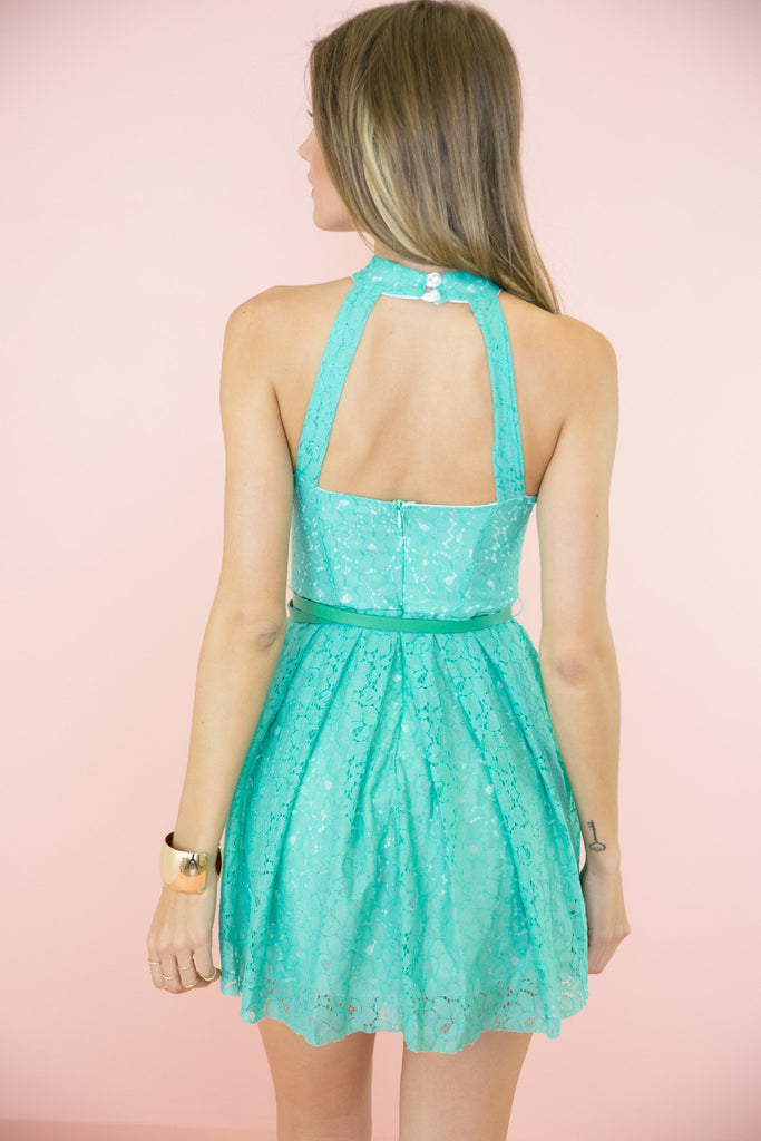 Jenna Open Back Lace Dress