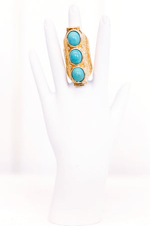 Nahla Turq Stone Large Ring - Haute & Rebellious