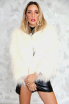 Long Hair Faux Fur Jacket - Haute & Rebellious