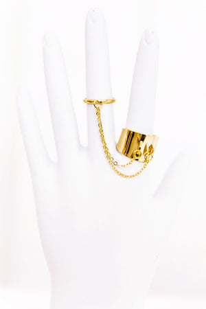 Gold Chain Connector Ring - Haute & Rebellious