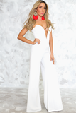Sorry Sweatheart Neckline Jumpsuit - White - Haute & Rebellious