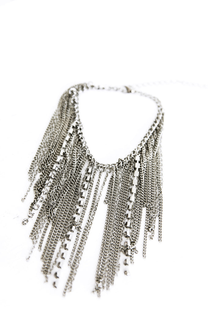 Sindhi Metal Chain Anklet - Silver