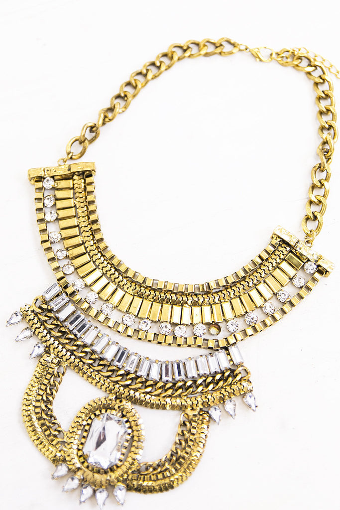 Heavy Crystal Statement Necklace