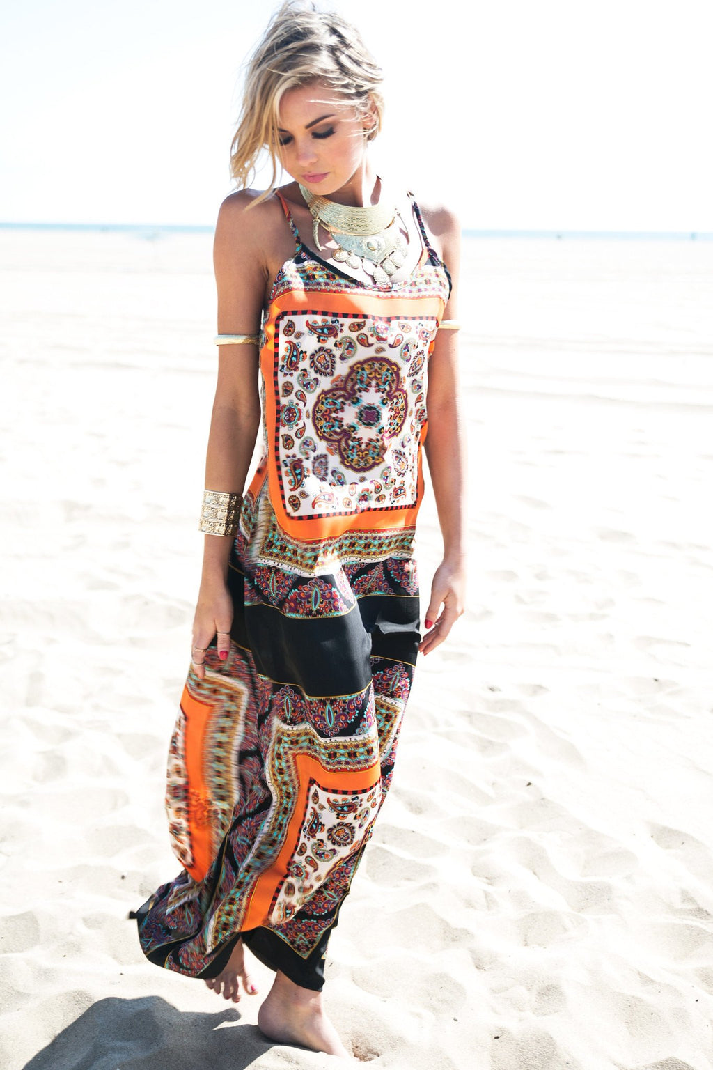 Naima Paisley Print Maxi Dress - Haute & Rebellious