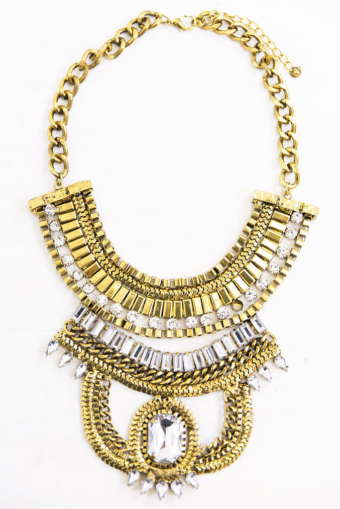 Heavy Crystal Statement Necklace - Haute & Rebellious