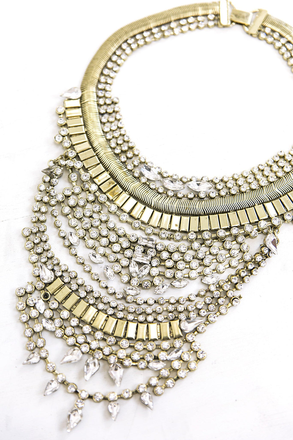 Cari Rhinestone Statement Necklace - Haute & Rebellious
