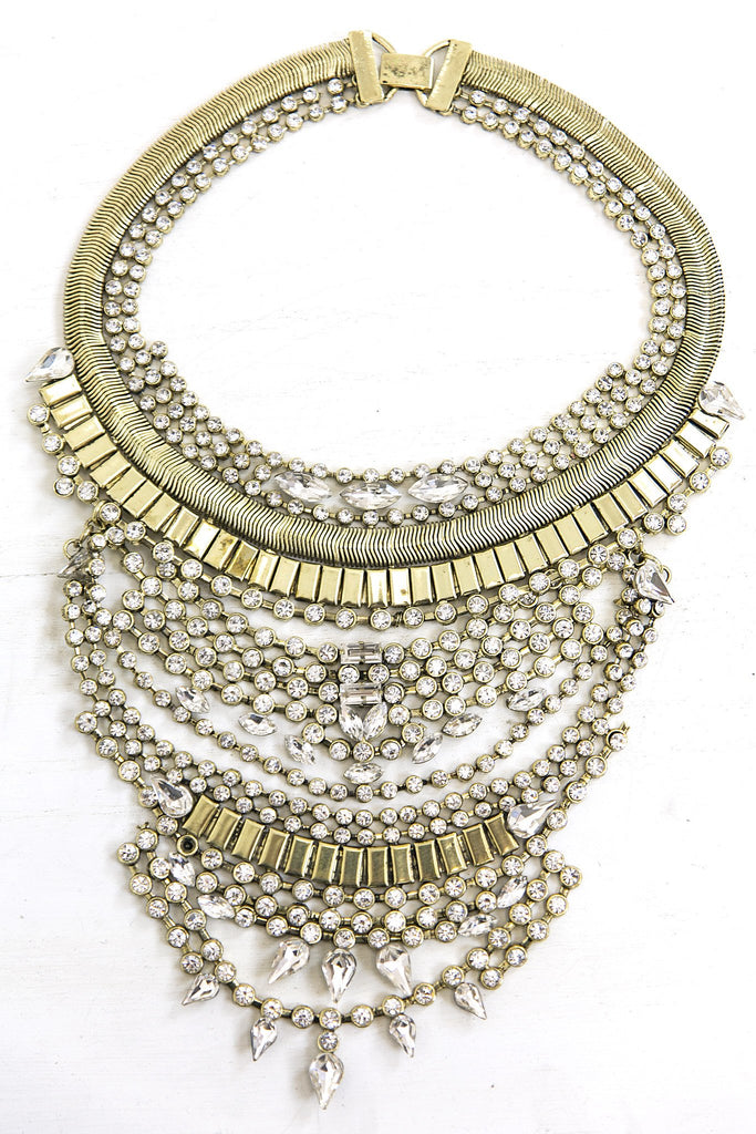 Cari Rhinestone Statement Necklace