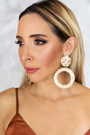 Dented Metal Hoop Earrings - Haute & Rebellious