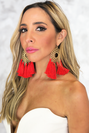 Forever Fiesta Large Earring - Hand Made - Haute & Rebellious