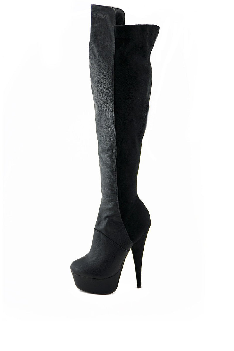 BRIN KNEE HIGH BOOTS - Black - Haute & Rebellious
