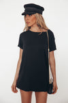 Crew-neck Basic T-shirt - Black