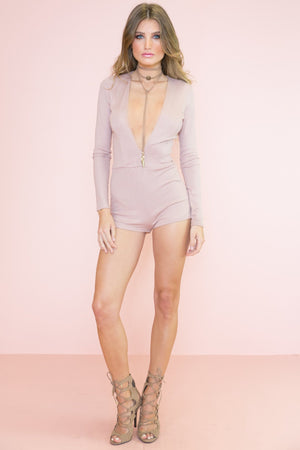 Celiah Long Sleeve Romper - Haute & Rebellious