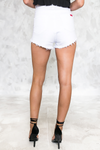 Best Fit High-Waisted Denim Short - White - Haute & Rebellious