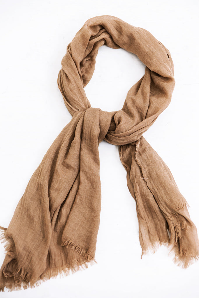 Sheer Scarf - Brown - Haute & Rebellious