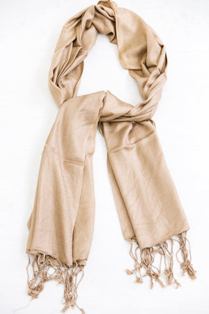 Sheer Scarf - Taupe - Haute & Rebellious