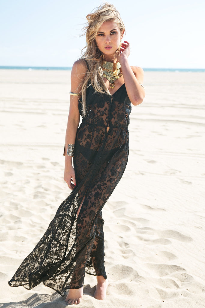 Caidy Lace Dress - Black