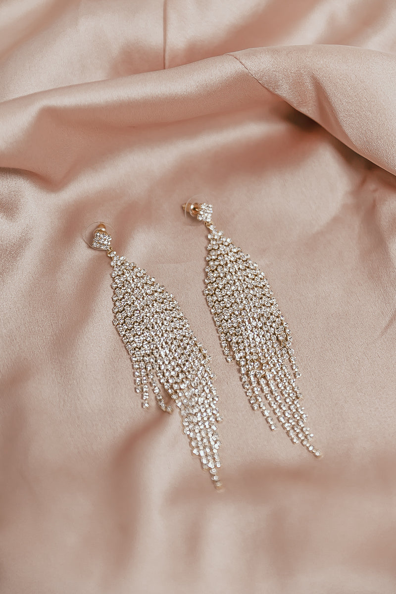 Crystal Earrings - Gold