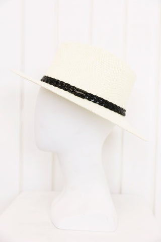 Flat Brim Hat - Natural