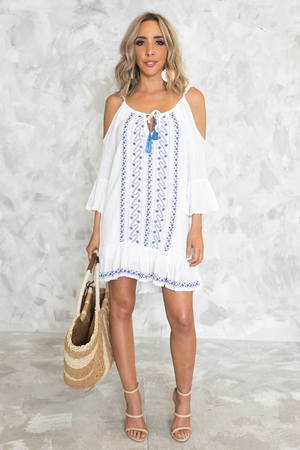 Embroidery Off-Shoulder Sundress - Haute & Rebellious