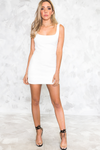 Mini Dress- White - Haute & Rebellious