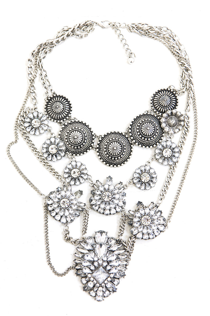 Veda Metal Statement Necklace