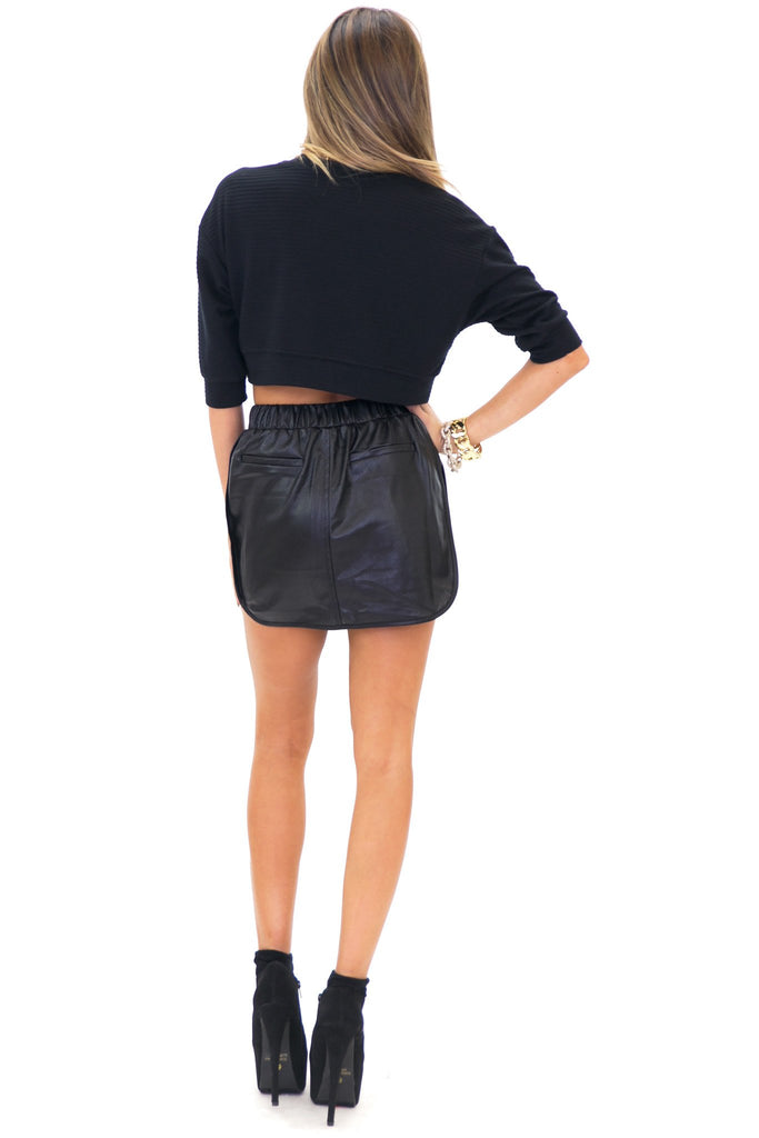 ASHLEN SPORT VEGAN LEATHER SKIRT