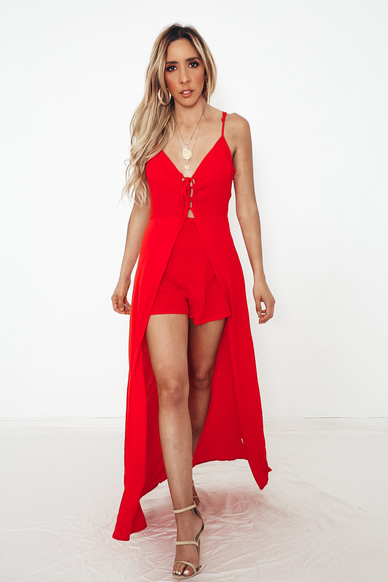 Slit Maxi Dress with Shorts