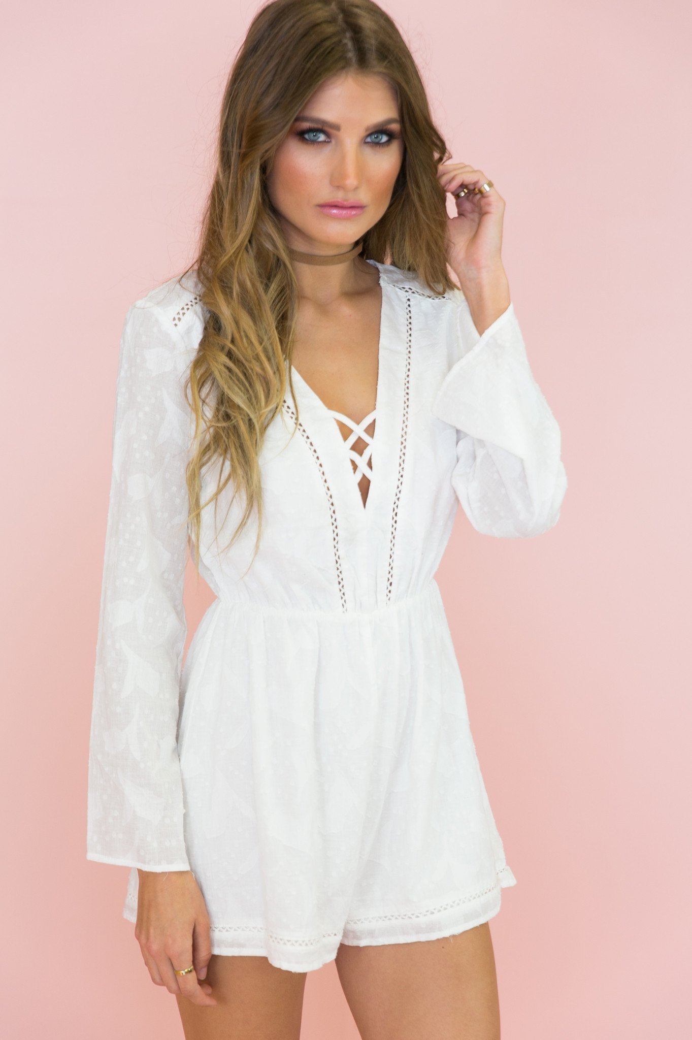 Gigi Bell Sleeve Romper /// Only 1-L Left ///
