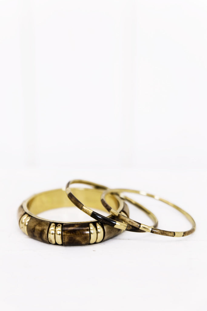 Rina Gold Bangle Set