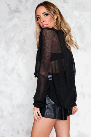 Crop Sweater - Black