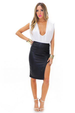MAYA VEGAN LEATHER SKIRT - Haute & Rebellious
