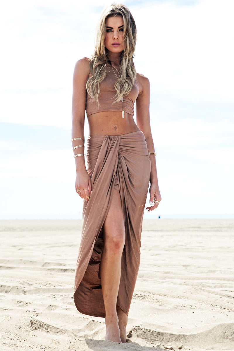 Rashana Two-Piece Set - Tan - Haute & Rebellious