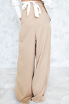 High-Waisted Palazzo Pant - Taupe - Haute & Rebellious