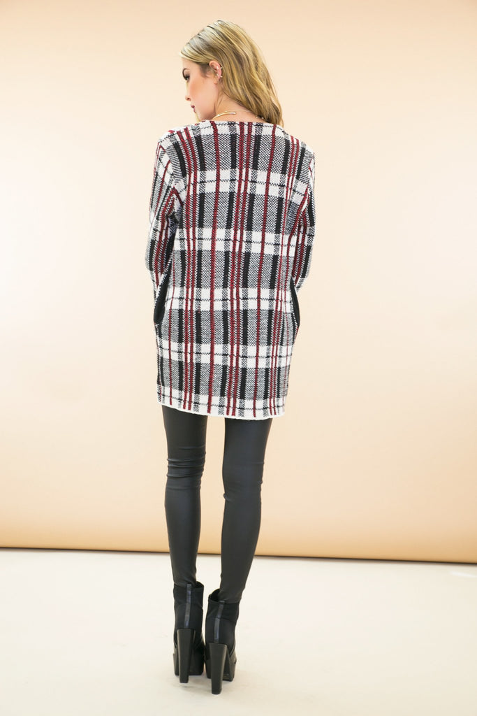 Alie Plaid Cardigan Sweater Coat