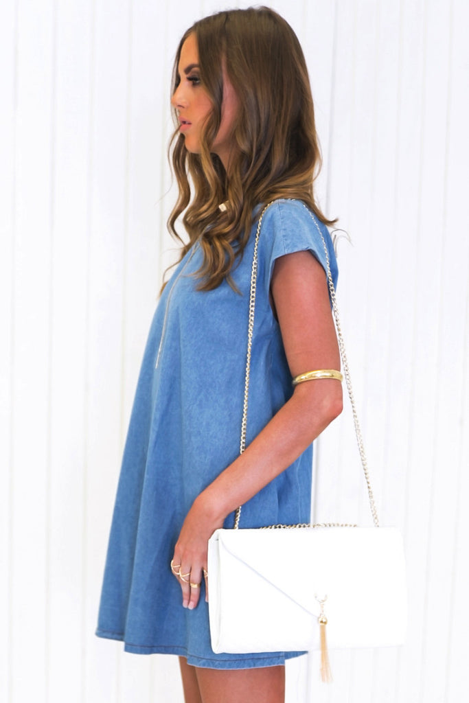 Tivi Chambray Shirt Dress