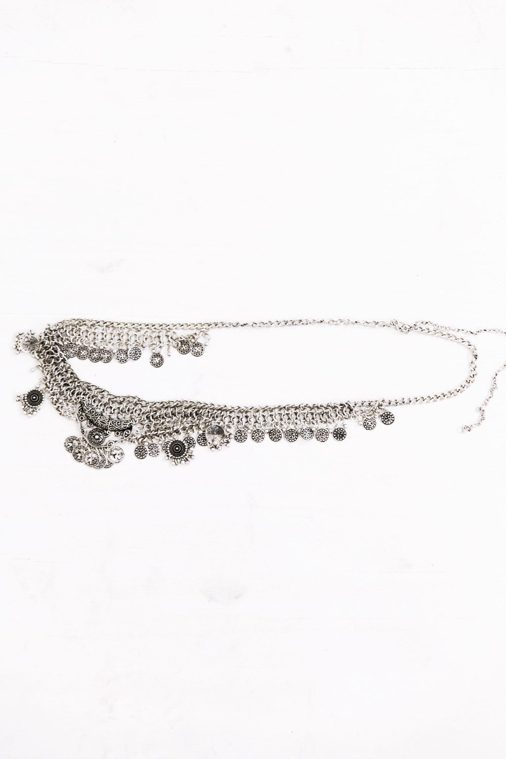 Calina Chain Belt - Sliver - Haute & Rebellious