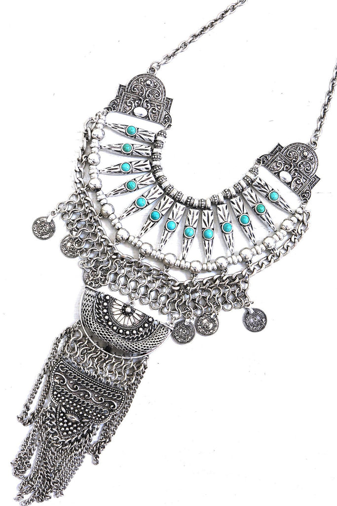 Carly Statement Necklace - Silver