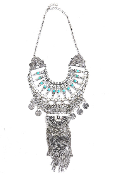 Carly Statement Necklace - Silver - Haute & Rebellious