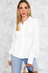 Button-Up Wing Tie Top - Haute & Rebellious