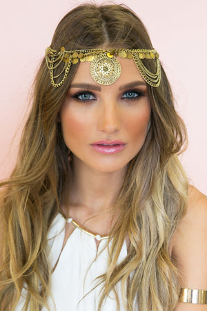 Cleopatra Bohem Metal Headpiece - Haute & Rebellious