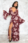 Enchanted Garden Wrap Maxi Dress /// ONLY 1-M LEFT/// - Haute & Rebellious