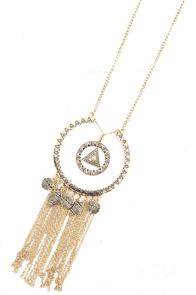 Abia Gold Pendent Necklace