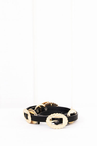 Anisa Leather Concho Belt - Haute & Rebellious
