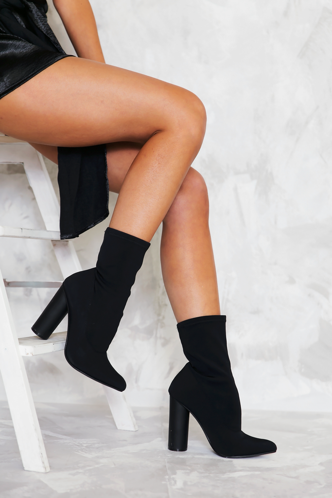 Walk The Talk Sock it Booties - Black - Haute & Rebellious