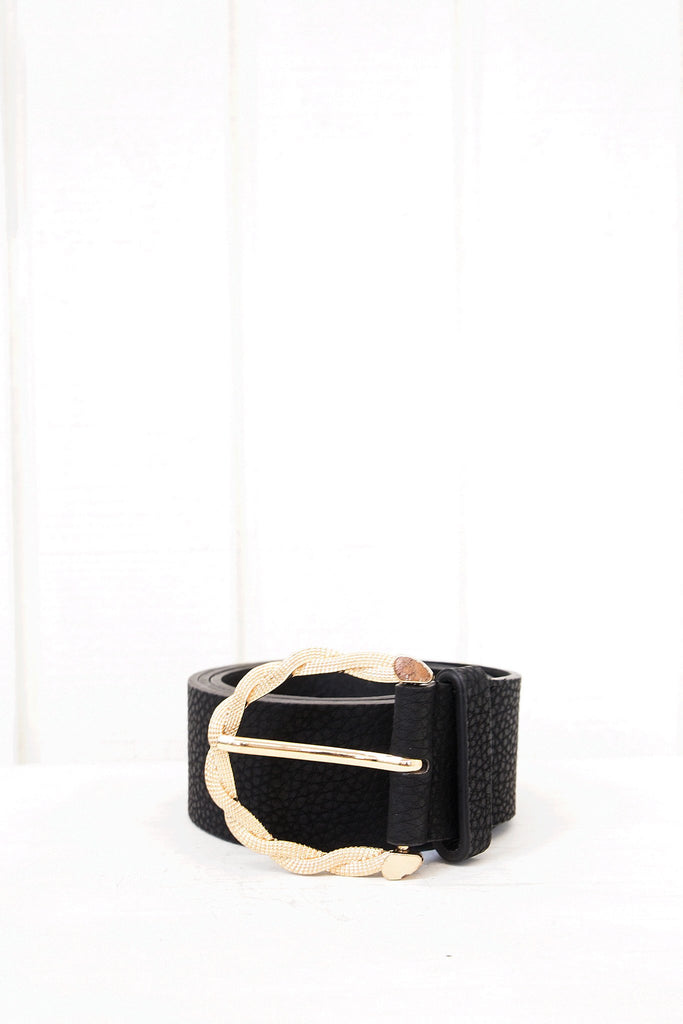Alka Gold Buckle Leather Belt
