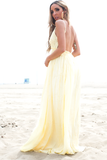 Camilla Open Back Crochet Maxi - Yellow