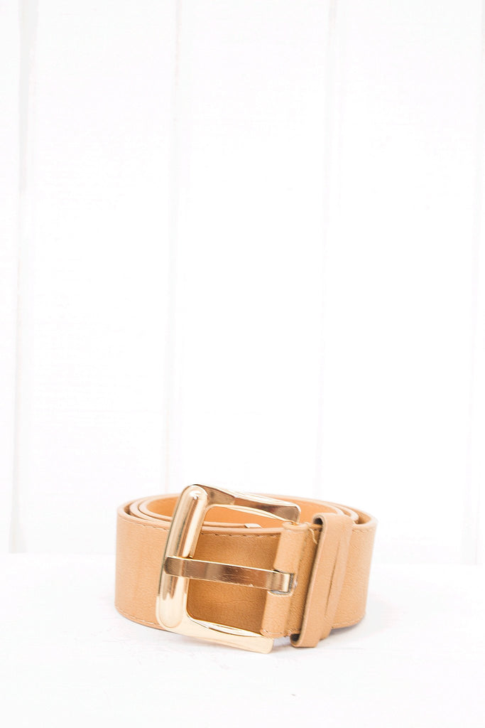 Jayka Leather Belt - Brown