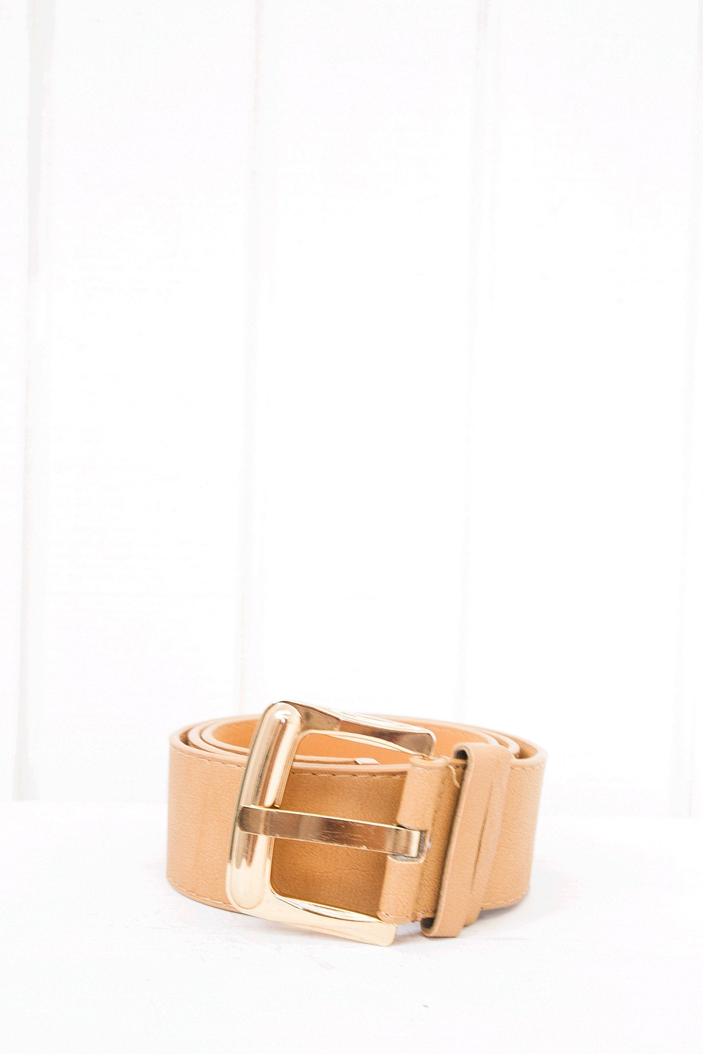 Jayka Leather Belt - Camel